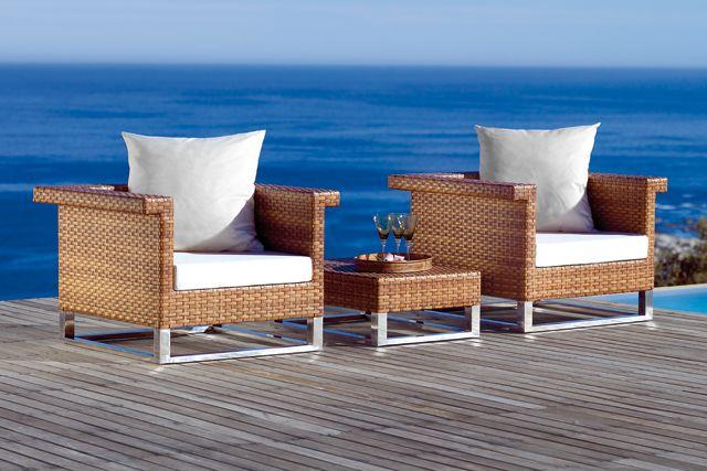 Fotele plenerowe MBM w kolorze Tabaco