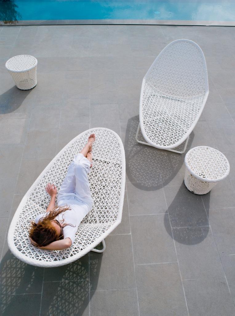 Meble Ogrodowe Technorattan Białe : białe meble ogrodowe  eco + design