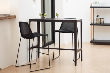 BREEZE krzesła barowe ze stołem CUT