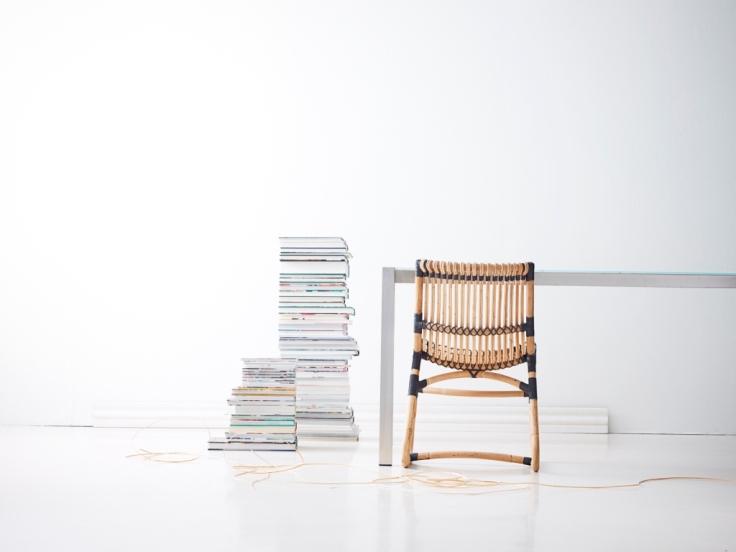 Krzesło rattanowe CURVE. Design Foersom & Hiort-Lorenzen