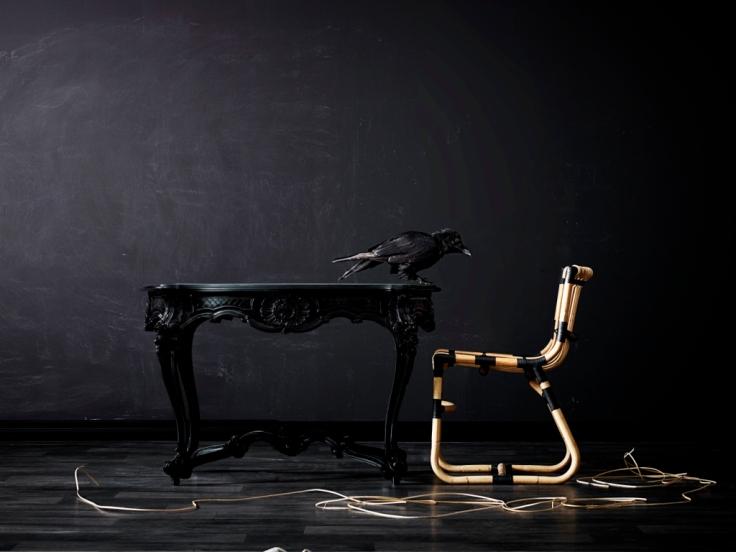 Krzesło z rattanu CURVE. Design Foersom & Hirt-Lorenzen MDD