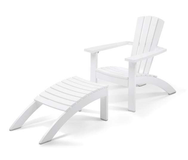 Meble ogrodowe Skagerak Denmark. Krzesło z podnóżkiem - Adirondack Chair