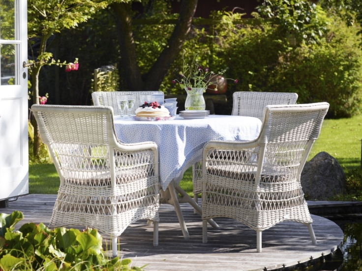 Białe meble ogrodowe Georgia Garden