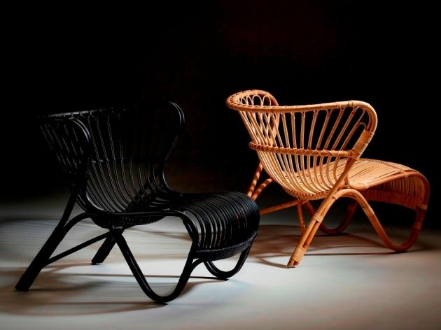 Fotele rattanowe FOX. Designed by Viggo Boesen (1936)