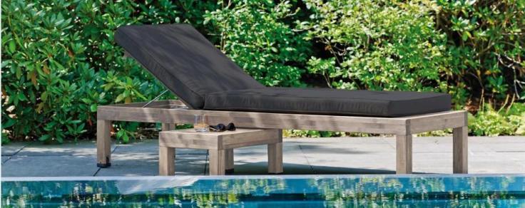 Meble bambusowe. Leżak ogrodowy Marina