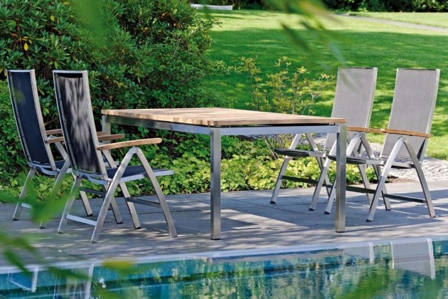 CARDIFF stalowe, rozkładane krzesła ogrodowe