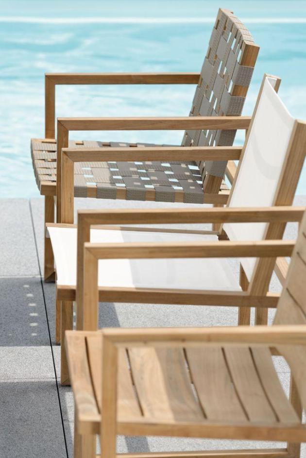 MAX krzesła z egzotycznego drewna OLD TEAK. Projekt STERN