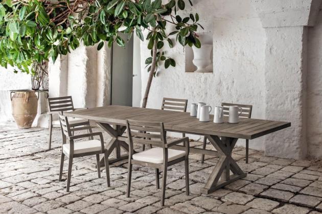 CRONOS stół teakowy z krzesłami STELLA. Pikled Teak