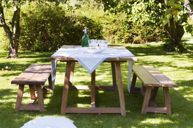 GEORGE stół i ławki teakowe z kolekcji Georgia Garden