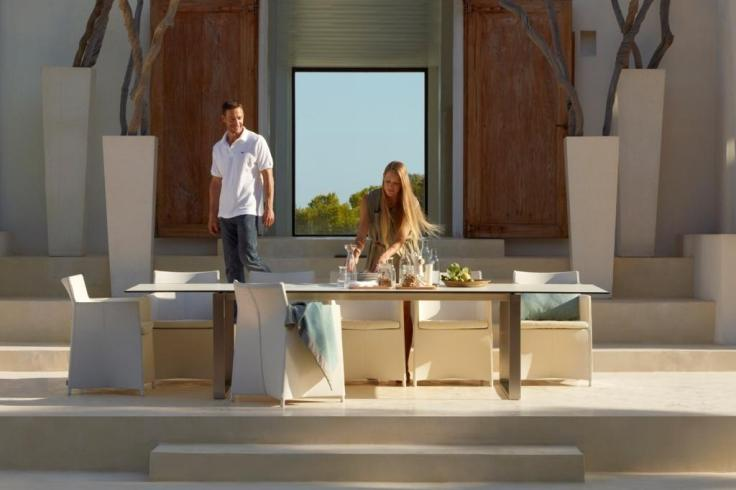 EDGE stół ogrodowy i krzesła DIAMOND