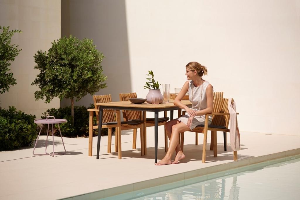 AMAZE krzesła teakowe Cane-line