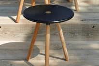 AREA Cane-line stołek lava grey