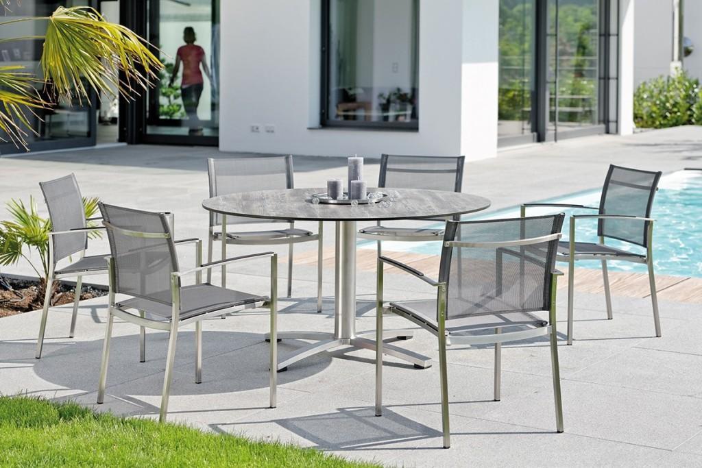 CARMEL krzesła ogrodowe ze stołem ROTONDO. Outdoor Dining Furniture