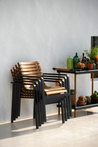 PARC Cane-line sztaplowane krzesła plenerowe