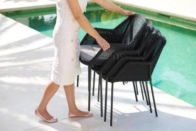 BREEZE Cane-line krzesła ogrodowe do sztaplowania