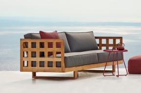SQUARE sofa teakowa Cane-line. Design by Foersom & Hiort-Lorenzen