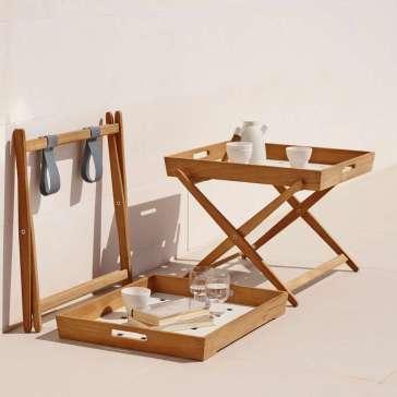 AMAZE Cane-line składany stolik z tacą