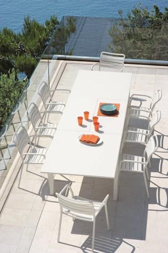 FLAT stół obiadowy i krzesła OCEAN. ETHIMO