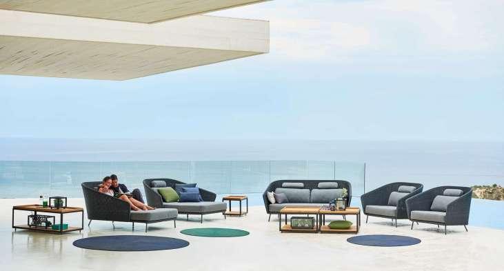 Mega lounge sofa, mega lounge chair, mega daybed left and right